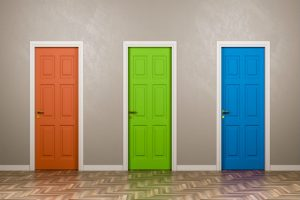 Orange Door, Green Door, Blue Door