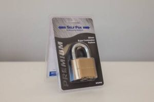 Brass Combination 50mm Padlock