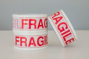 FRAGILE Printed PVC Tape