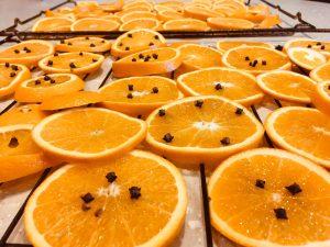 sliced oranges xmas